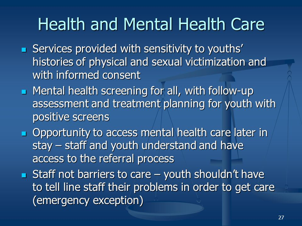 Health and Mental Health Care