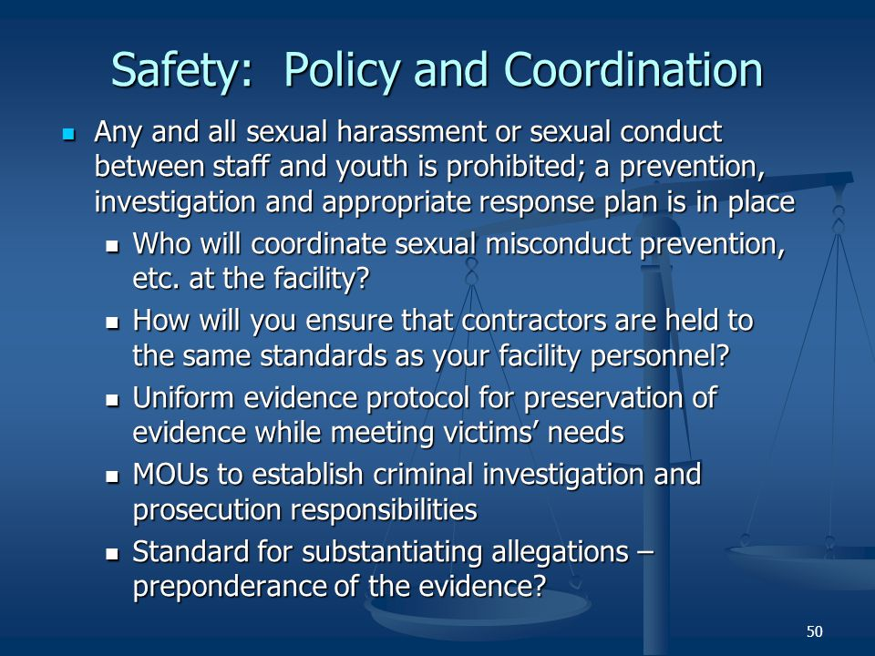 Safety: Policy and Coordination