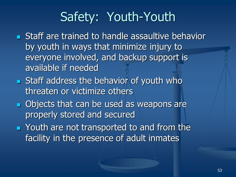 Safety: Youth-Youth
