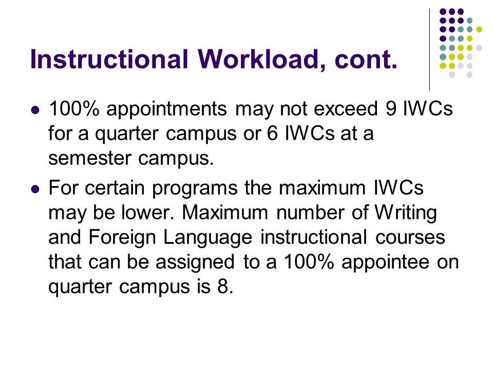 Instructional Workload: Equivalencies