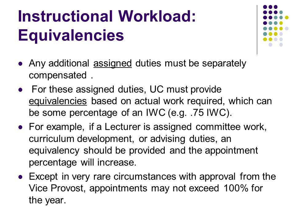 Instructional Workload: Enforcement
