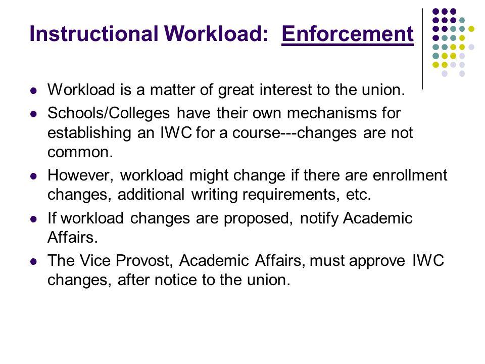 Workload Enforcement –Union Rights