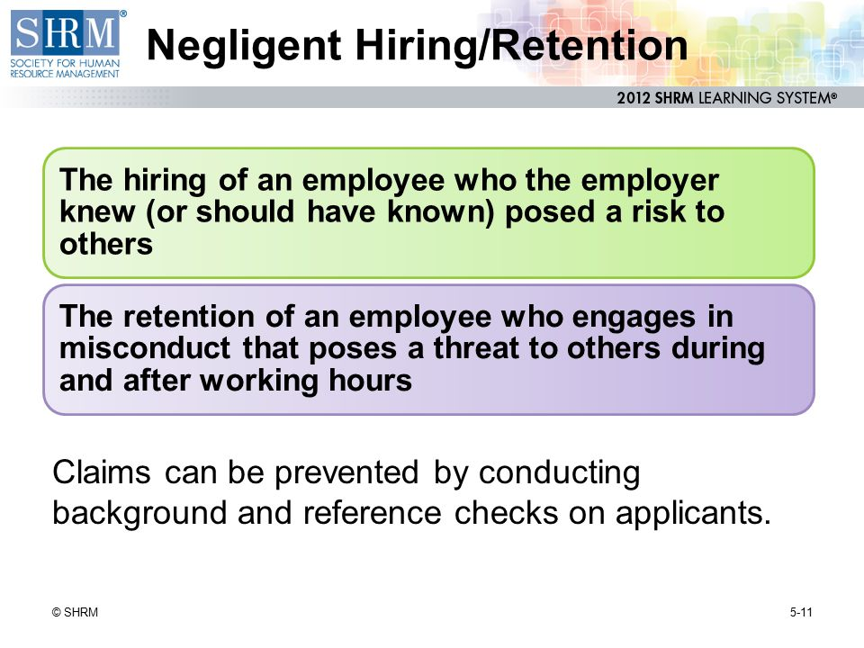 Negligent Hiring/Retention