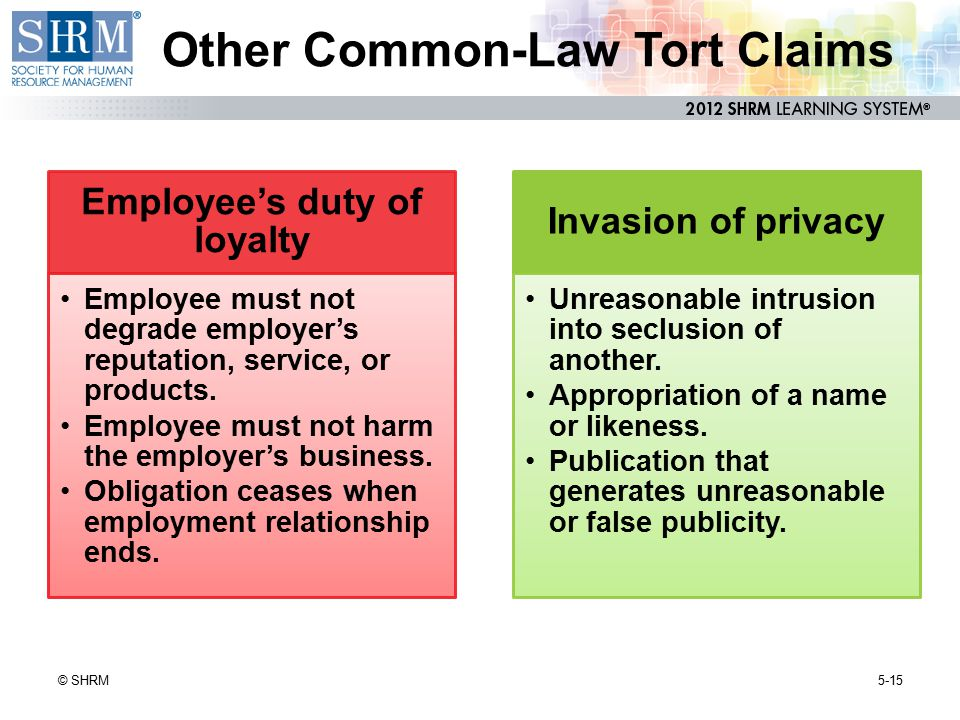 Other Common-Law Tort Claims