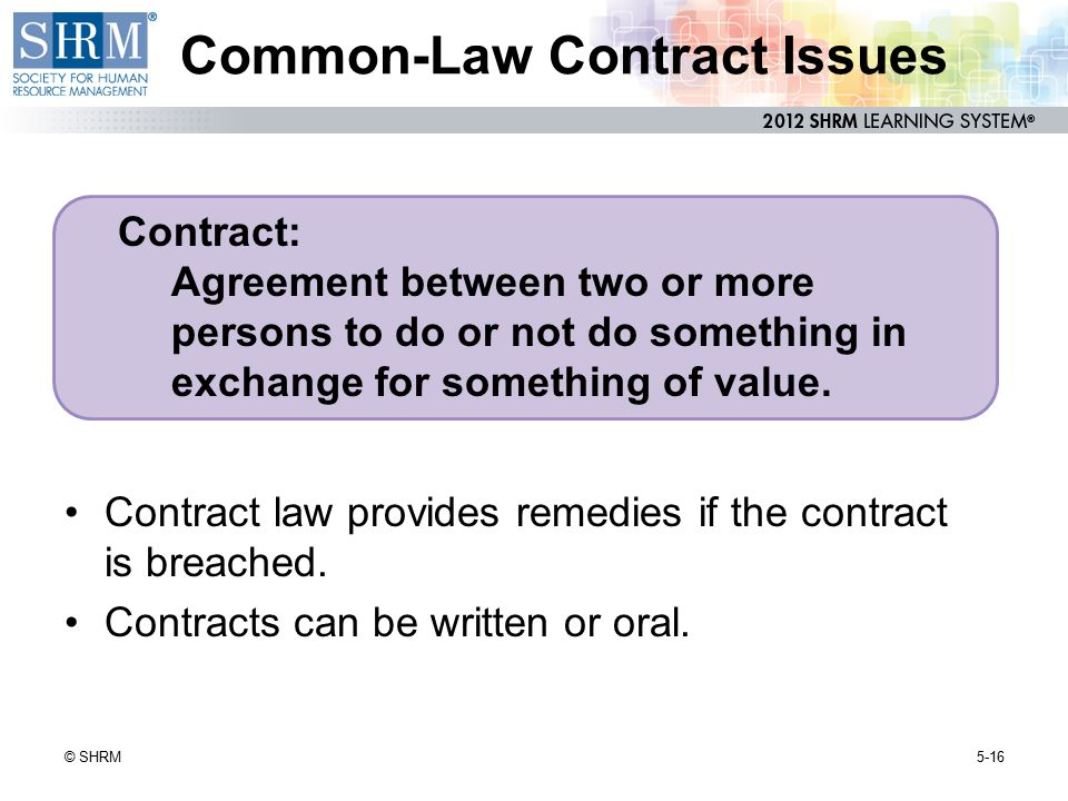 Common-Law Contract Issues