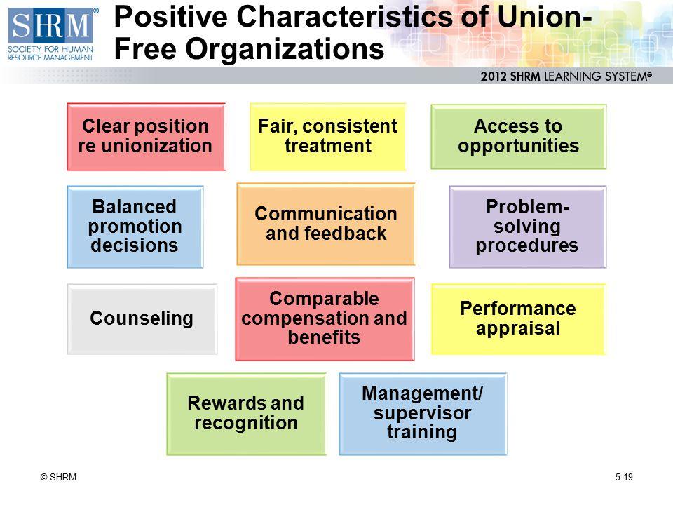 Positive Characteristics of Union-Free Organizations