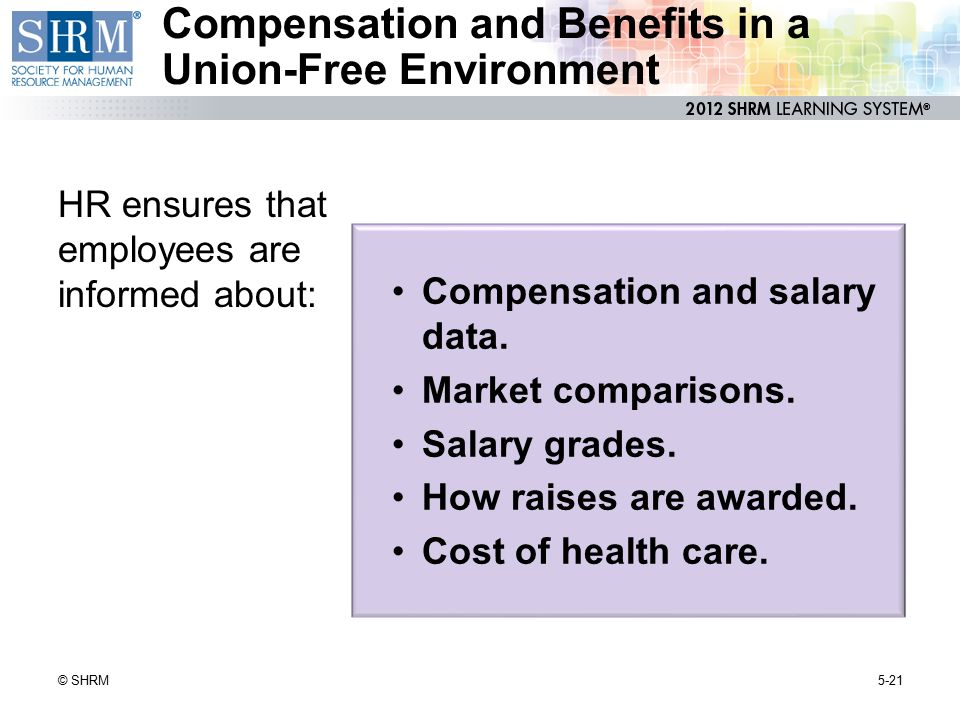 Compensation and Benefits in a Union-Free Environment