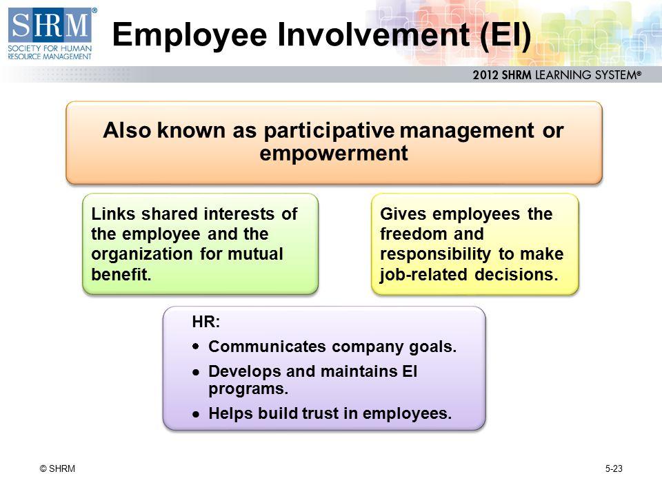 Employee Involvement (EI)