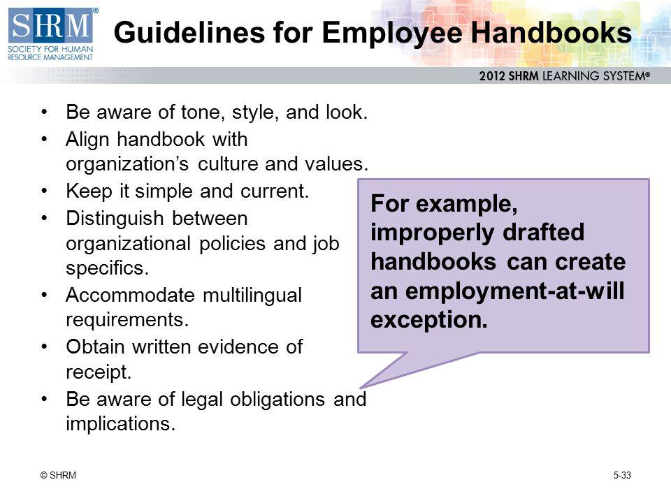 Guidelines for Employee Handbooks