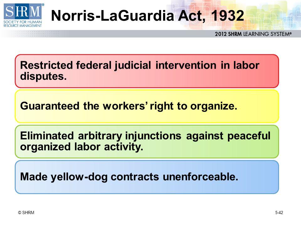 Norris-LaGuardia Act, 1932 NOTES p. 142