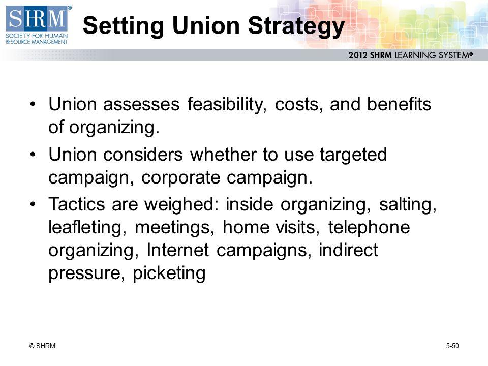 Setting Union Strategy