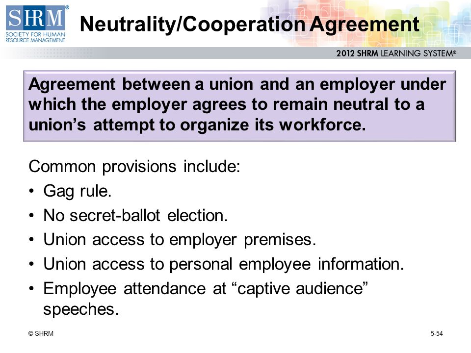 Neutrality/Cooperation Agreement