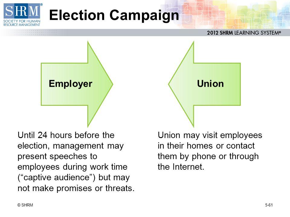 Election Campaign Union Employer