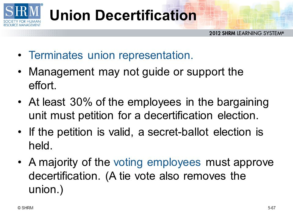 Union Decertification