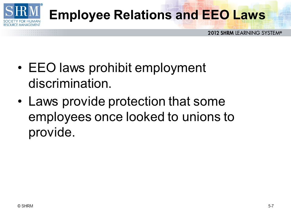Employee Relations and EEO Laws