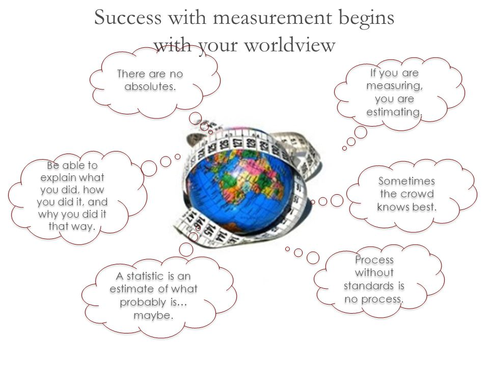 Success with measurement begins with your worldview