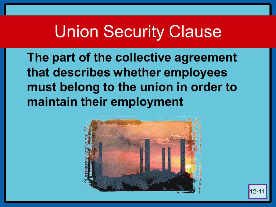 Union Security Clause