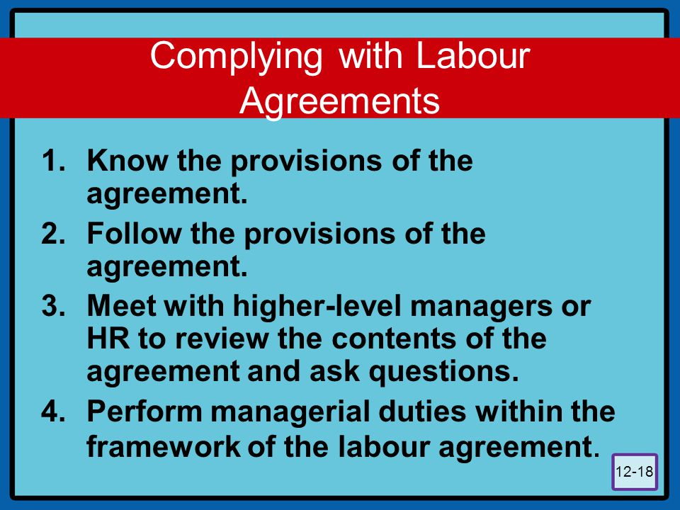 The Labour Union And The Supervisor  Ppt Download