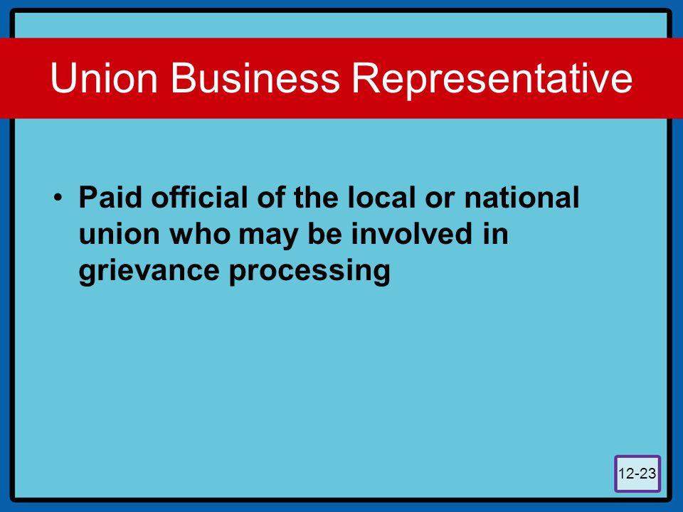 Union Business Representative