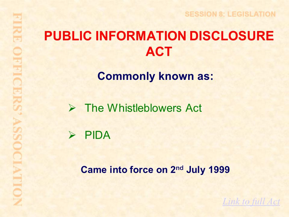 PUBLIC INFORMATION DISCLOSURE ACT