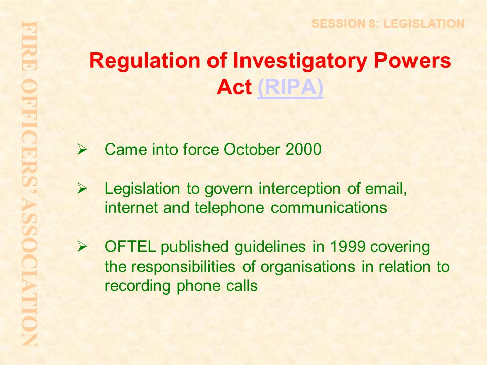 Regulation of Investigatory Powers Act (RIPA)