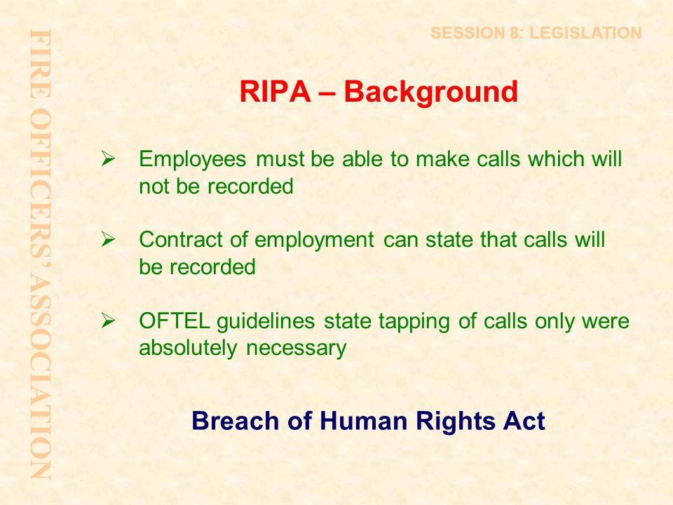 Breach of Human Rights Act