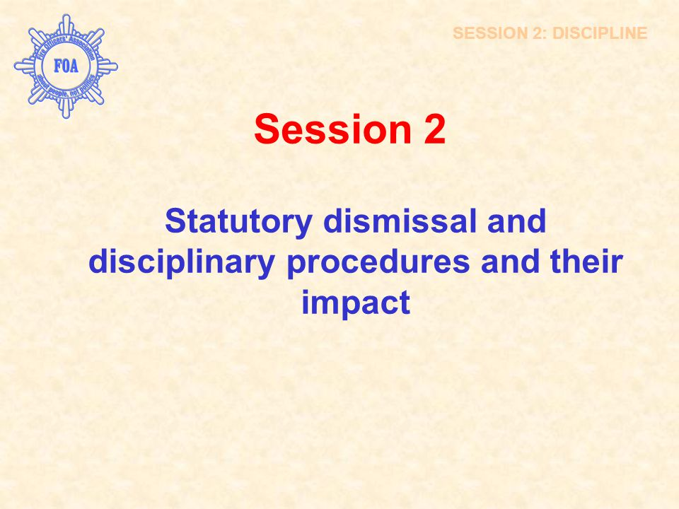 Statutory dismissal and disciplinary procedures and their impact