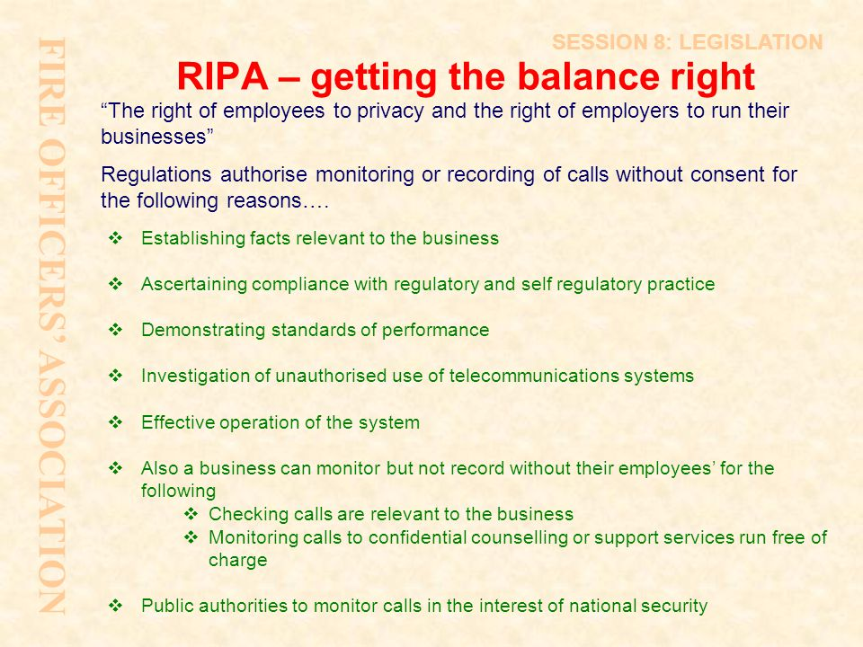 RIPA – getting the balance right