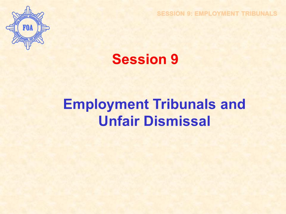Employment Tribunals and Unfair Dismissal
