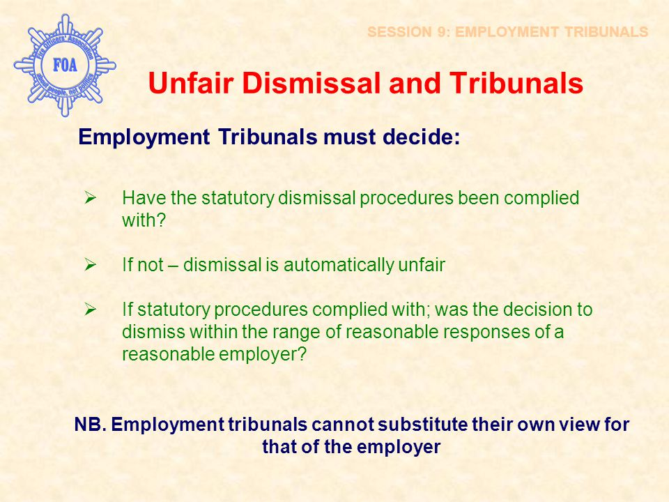 Unfair Dismissal and Tribunals