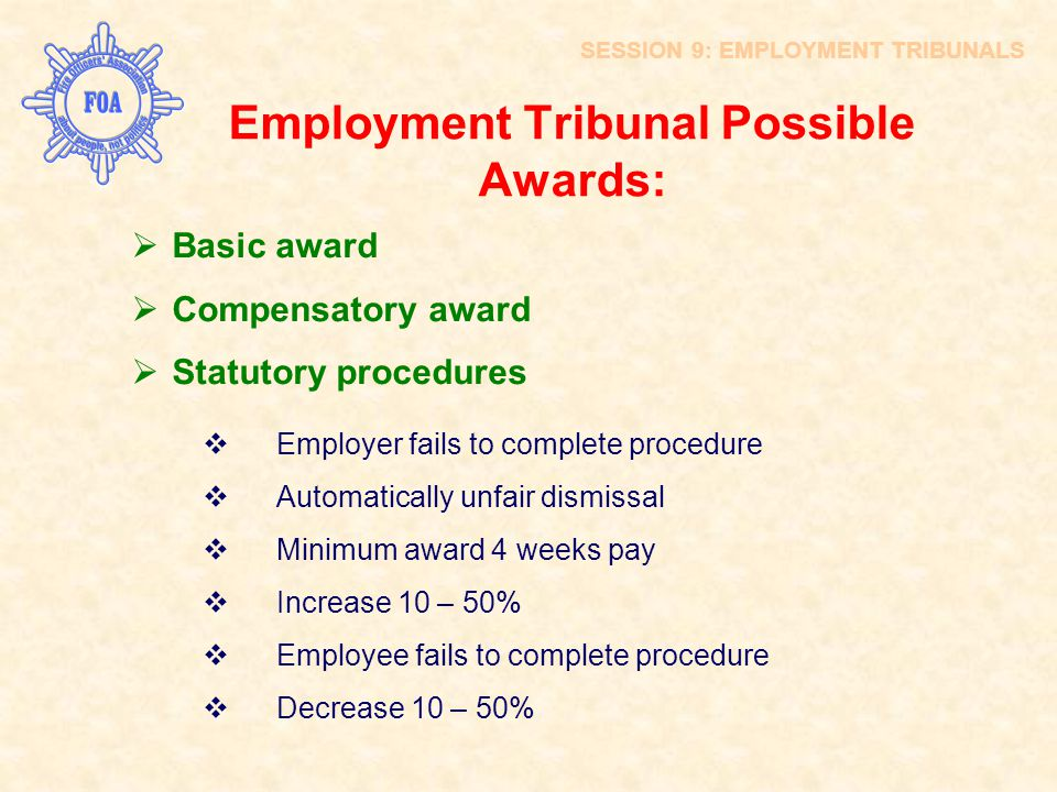 Employment Tribunal Possible Awards: