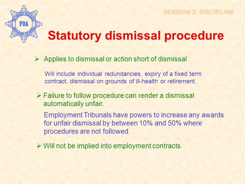 Statutory dismissal procedure