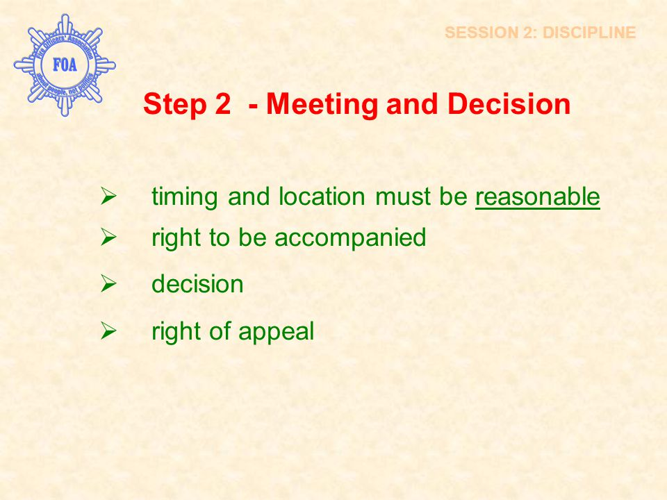 Step 2 - Meeting and Decision