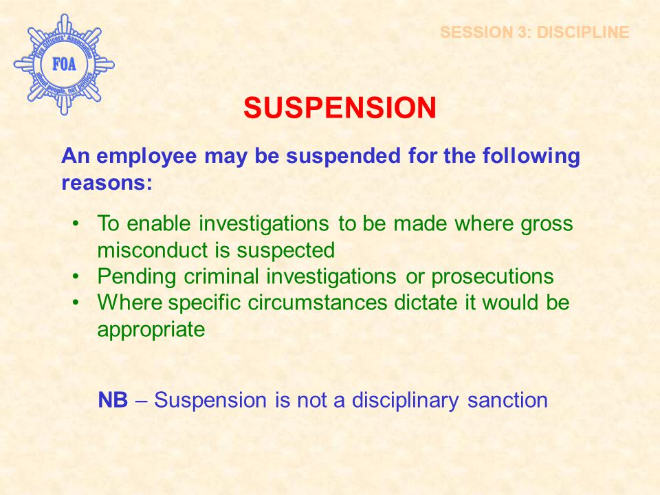 SUSPENSION INTRODUCTION