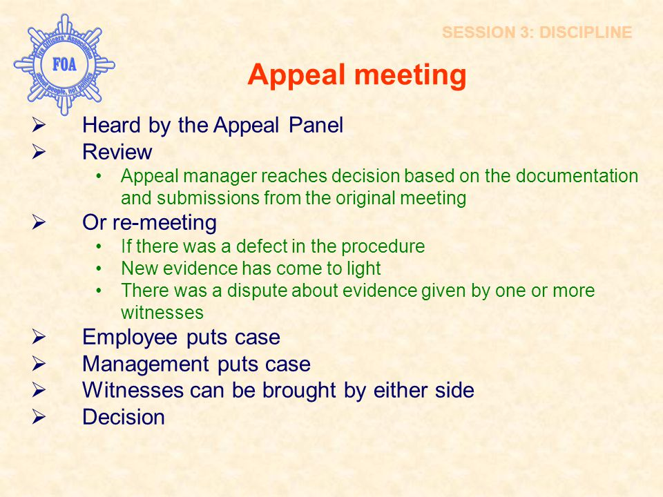 Appeal meeting INTRODUCTION Heard by the Appeal Panel Review