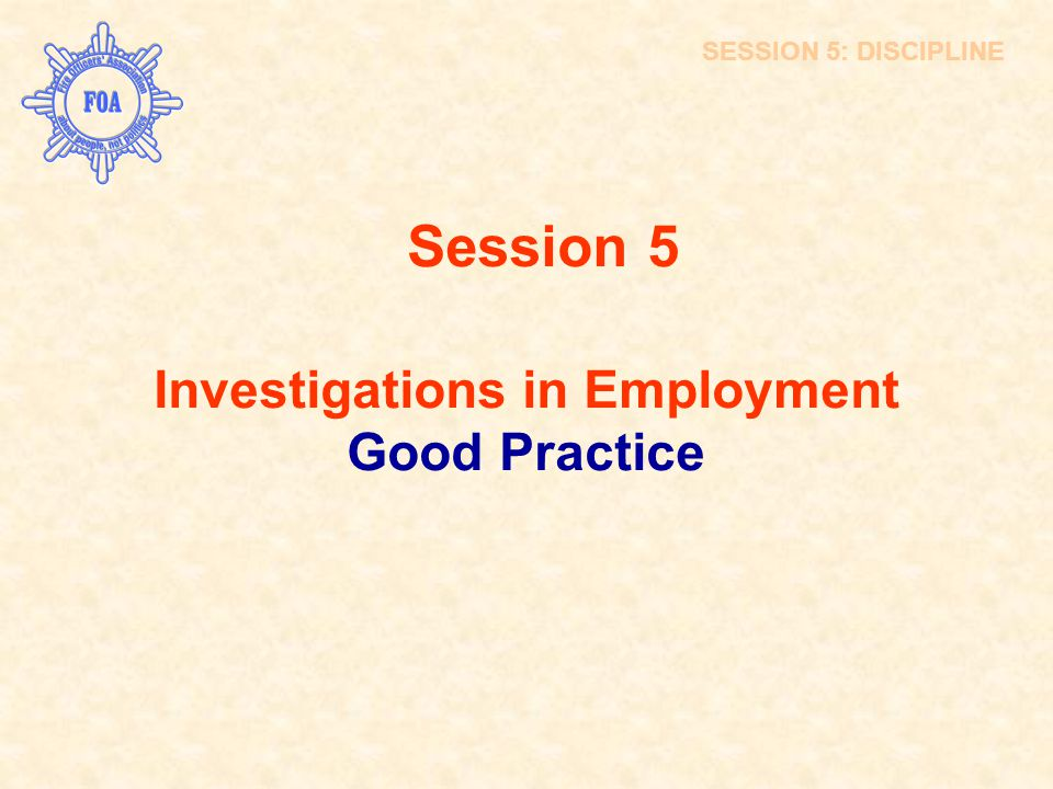 Investigations in Employment