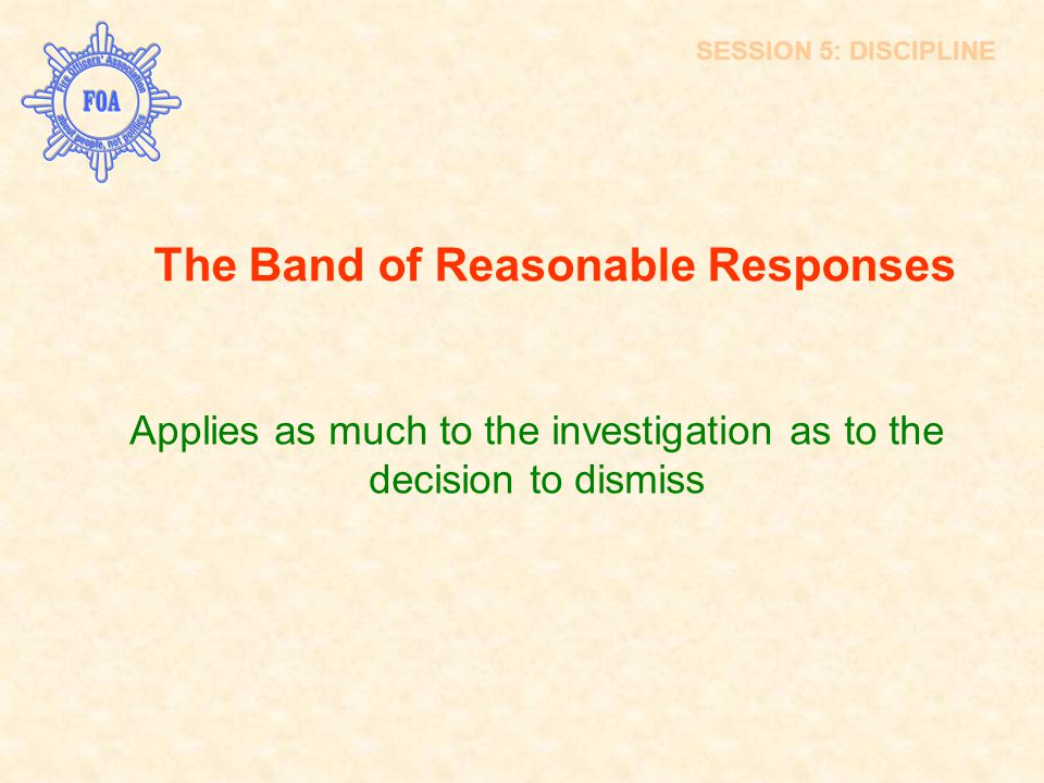 The Band of Reasonable Responses