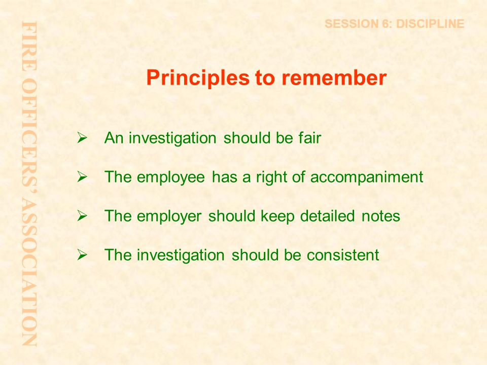 Principles to remember