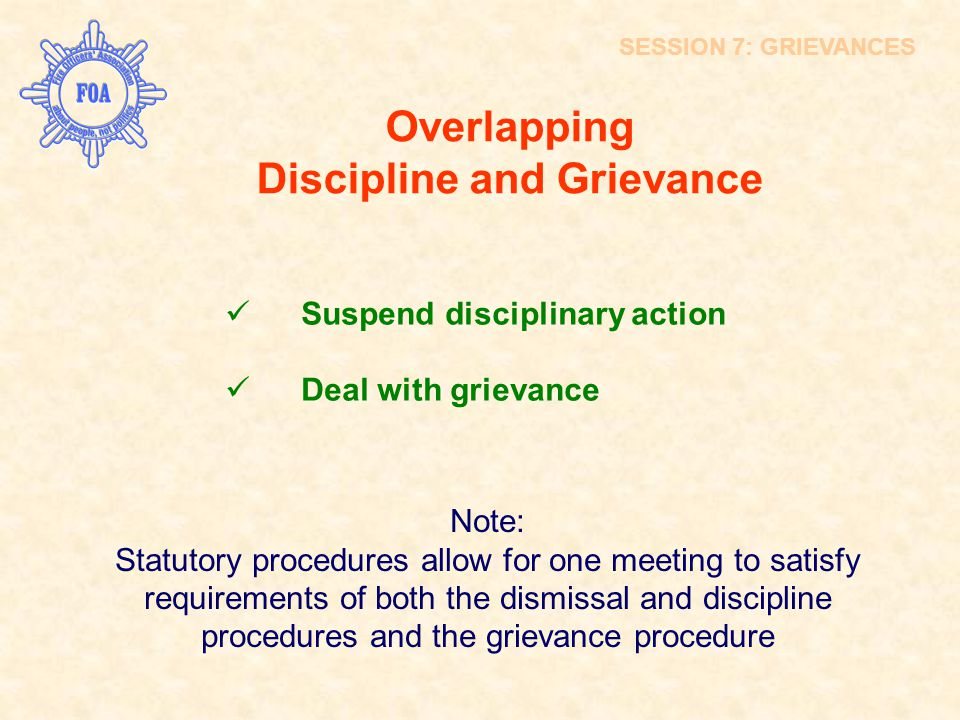 Overlapping Discipline and Grievance