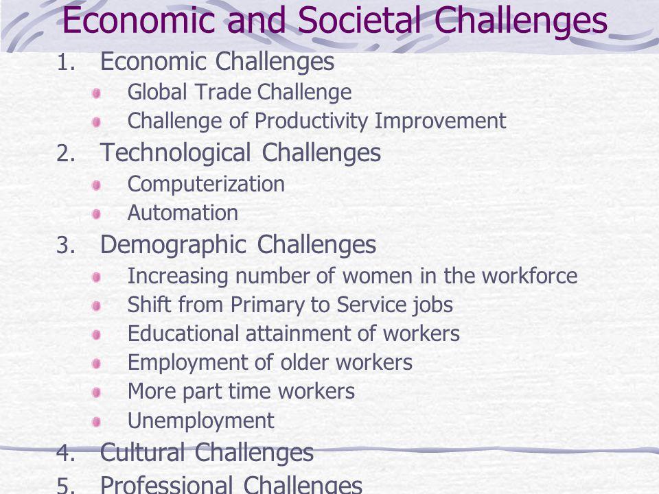 Economic and Societal Challenges