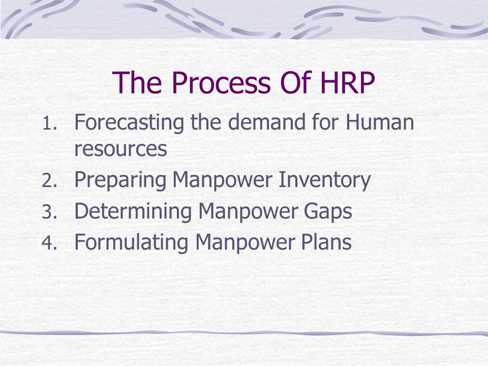 The Process Of HRP Forecasting the demand for Human resources