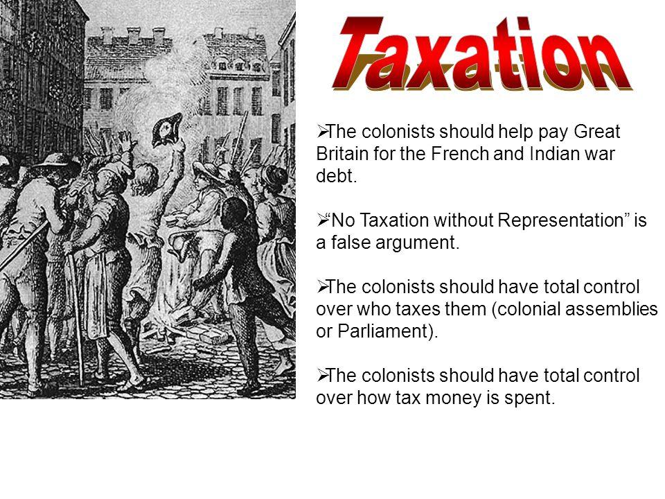 No Taxation without Representation is a false argument.