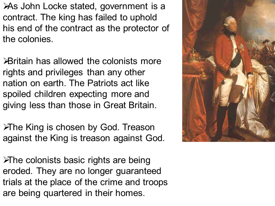 As John Locke stated, government is a contract
