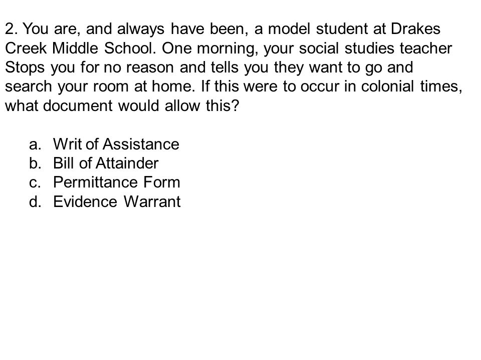 2. You are, and always have been, a model student at Drakes