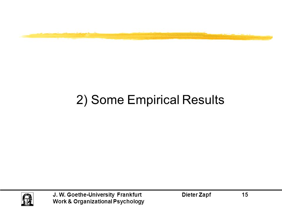 2) Some Empirical Results