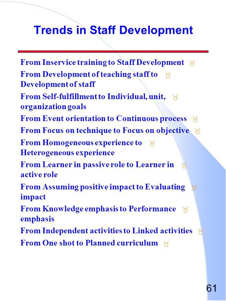 Trends in Staff Development