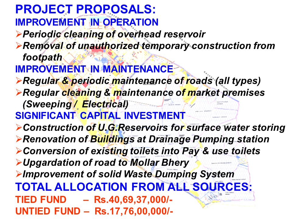 PROJECT PROPOSALS: TOTAL ALLOCATION FROM ALL SOURCES: