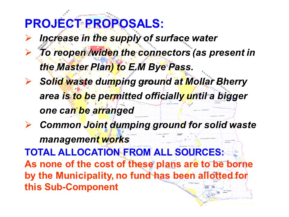 PROJECT PROPOSALS: Increase in the supply of surface water
