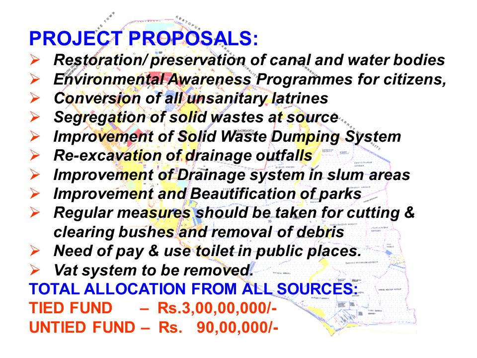 PROJECT PROPOSALS: Restoration/ preservation of canal and water bodies
