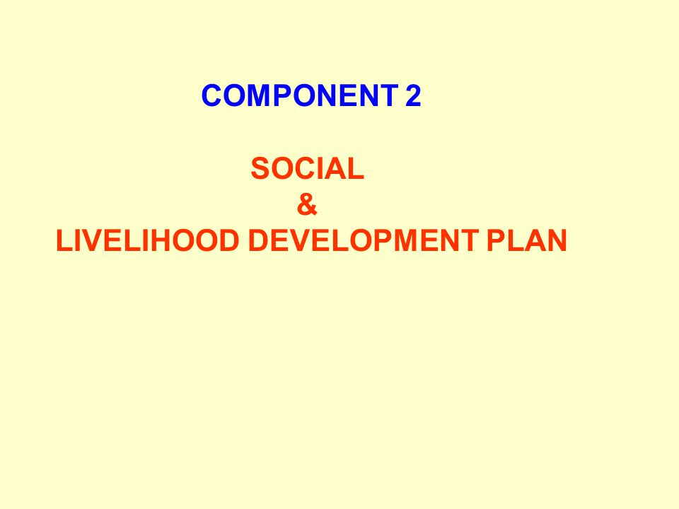 LIVELIHOOD DEVELOPMENT PLAN